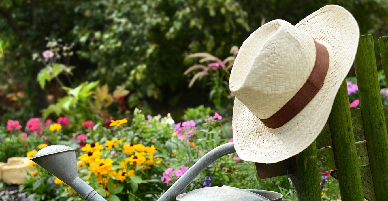 Gartenarbeit Pause