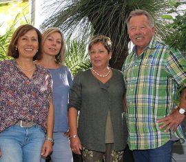 Pflanzenparadies Adrian, Familie Adrian, Inge Adrian, Valentin Adrian und ihre Töchter